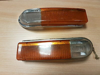 Triumph Spitfire Mk4 Mkiv Original Genuine Pair Of Indicator Lenses