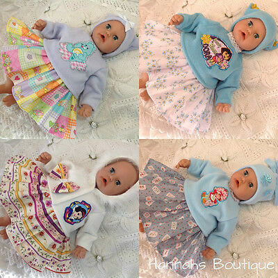 """HANNAHS BOUTIQUE BABY DOLLS CLOTHES-OUTFITS TO FIT 17-19"""" PLAY DOLLS FREE p&p"""