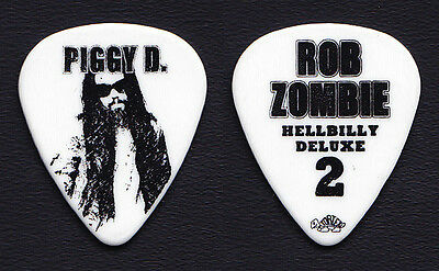 Rob Zombie Piggy D White Guitar Pick - 2010 Hellbilly Deluxe 2 Tour
