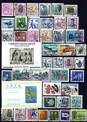 Korea Stamps  1962 – 1968  **** 44 Stamps ***** 4 Mint