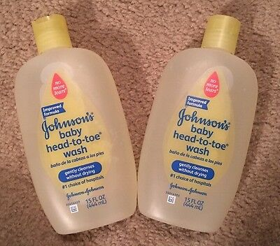 2 Johnson's Baby Head-to-toe Wash 15 fl oz