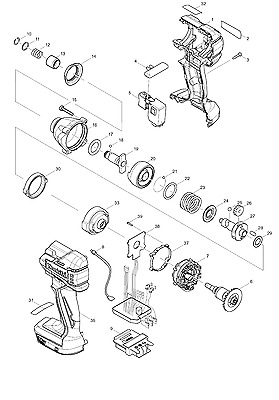 Genuine New Makita Parts for DTD129
