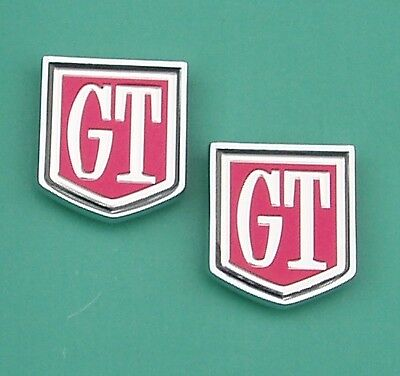 Ford Cortina Gt Mk1 & 2  Gt Rear Quarter Badges. Mint Condition, Top Quality