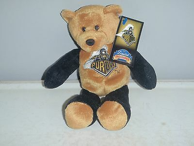 Limited Treasures PURDUE BOILERS Stuffed Bear NOS 2001 With Tags OLD GOLD &BLACK