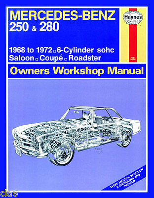 Mercedes 250 280 W113 W114 Workshop Service and Repair Manual 1968-1972 *NEW