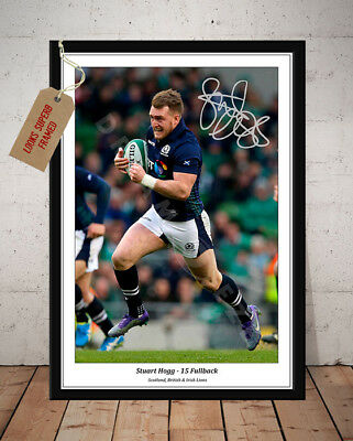 Stuart Hogg Scotland Rugby Six Nations Autographed Signed Photo Print