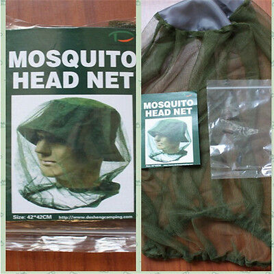 Anti-Mosquito Camouflage Hat Insect Face Mask Net Cap Fishing Camping Outdoor BY