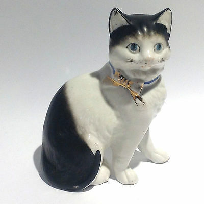 Antique Porcelain Kitty with Bow