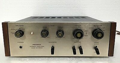 Vintage Pioneer Model# Sa-500a Stereo Amplifier-Serviced-Works Great-Nice Piece!