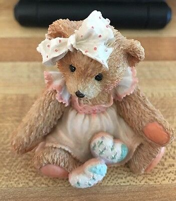 Cherished Teddies 1992 AMY Hearts Quilted With Love