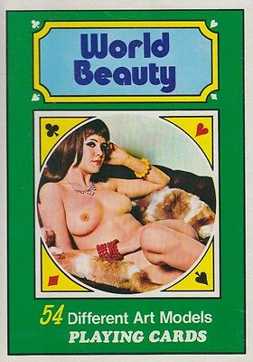 Pin Up Kartenspiel - 70er Jahre - World Beauty Jumbo Cards - Überformat