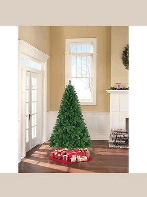 Artificial Christmas Tree 6.5' Non-Lit Jackson Green Spruce with Tree Stand NEW