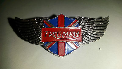 TRIUMPH British bikes LOGO with wings and Union Jack flag PIN PIN'S