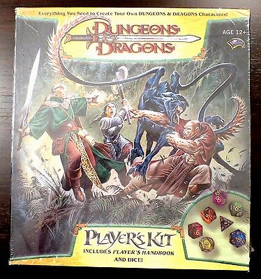 D&D 3.5 Players Kit with Player's Handbook & Deluxe Dice Set + More SEALED