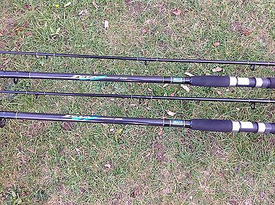 2x shakespeare Zeta Beachcasters  Rods  12ft  4-8oz