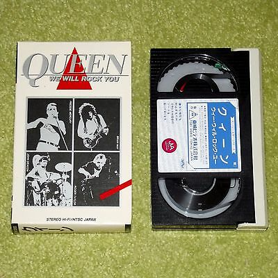 QUEEN We Will Rock You - RARE 1984 JAPAN FIRST EDITION BETAMAX VIDEO (TE-M326)
