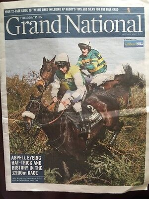 The Times Grand National 12-Page Guide Horse Racing Mccoy Aintree Chair Becher's