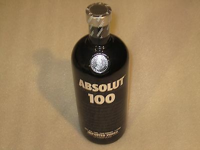 New HTF Sealed ABSOLUT 100 Imported Vodka Empty 1 Liter Display Bottle
