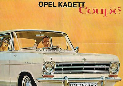 1964?1965 OPEL KADETT Coupe Brochure / Catalog with Spec's