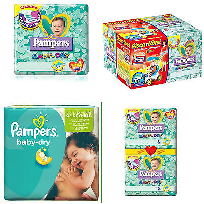 Pannolini Pampers Baby Dry taglie assortite 2 3 4 5 6