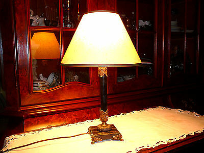 Magnificent vintage/1940 European/Spain Table Lamp, in Genuine Bronze and Marble