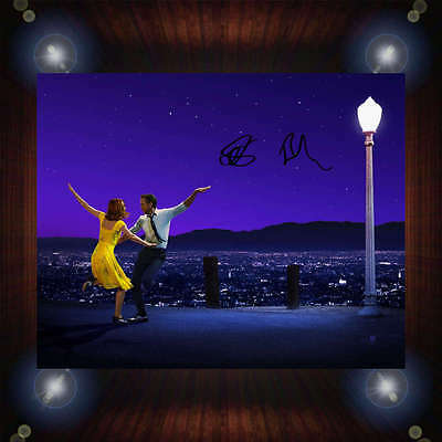 La La Land Ryan Gosling Emma Stone Signed Autographed Framed Photo/Canvas Print