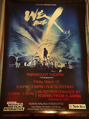 Yoshiki Signed Autographed 27X40 Ss Poster X Japan We Are X Movie Toshi
