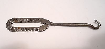 Vintage Advertising Shoe Button Hook Newark Shoe Saves a Dollar