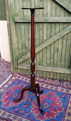 Dark Wood Vintage Torchere Plant Stand Candle Holder