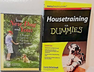Dog Training Beginners Guide House-training Bundle New Book DVD AKC