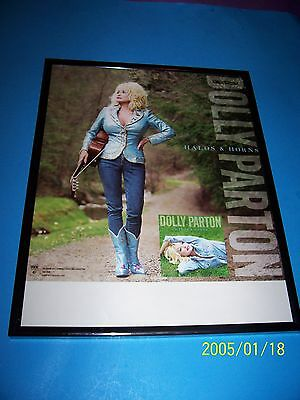 Dolly Parton 11 X 17 Poster Framed 'halo & Horns