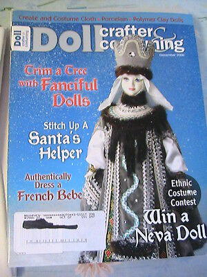 DOLL CRAFTER & COSTUMING December 2006 *OOP RARE cloth doll patterns~techniques