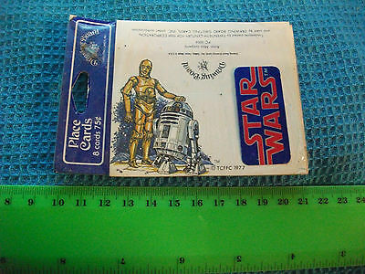 Star Wars...Vintage unopened packet of 8 Place Cards. Authorized item...1977.