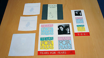 Tears For Fears - Collection of Promo Window Stickers (The Hurting I Believe etc