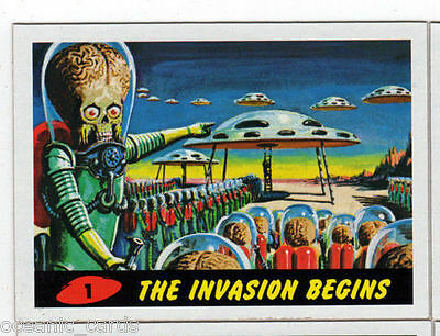 2012 Topps Heritage Mars Attacks Base Set Of Trading Cards