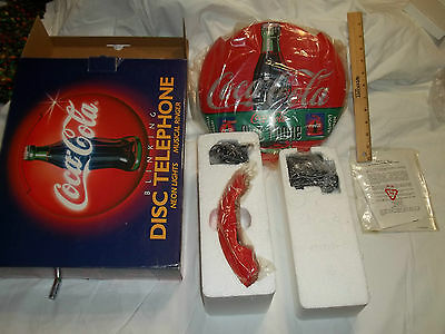 Coca Cola Blinking Disc Telephone With Box