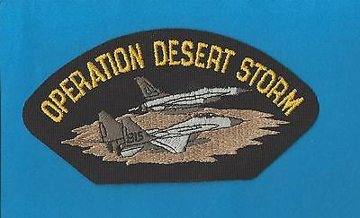 Vintage 1991 US Air Force Operation Desert Storm Iron On Jacket Hat Patch Crest