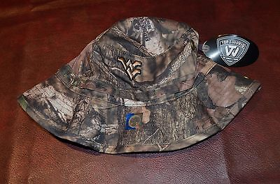 detailed look 6f2d3 c3638 NWT Top of the World WVU Mountaineers Infinity Breakup Camo Boonie Bucket  Hat