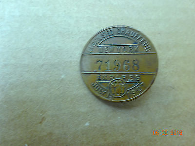 Vintage 1927 New York   LICENSED CHAUFFEUR  BUTTON Hat BADGE