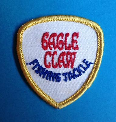 Vintage 1970's Eagle Claw Fly Fishing Tackle Sew On Hat Jacket Patch Crest