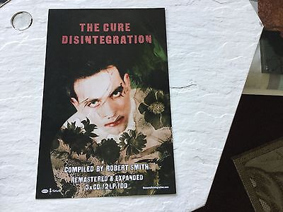 "The Cure ""disintegration"".   Litho-like promo poster.  17"" x 11"""
