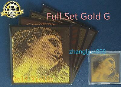 Full Set Pirastro Evah Pirazzi Gold Violin Strings GOLD Wound G - Ball E -Medium