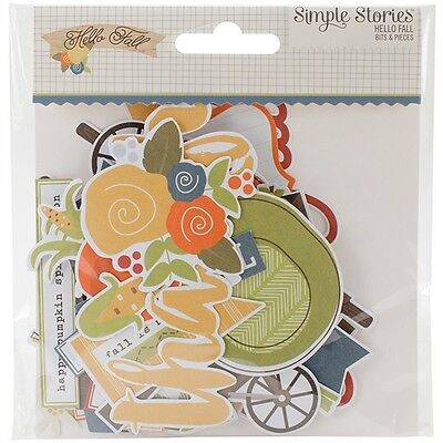 Simple Stories Hello Fall - Bits & Pieces Die Cuts 62 Pack 6929