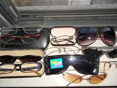 MIXED LOT of 16 pc ASSORTED EYEWEAR: Read/ BVLGARI Case /DKNY Frame for Repair