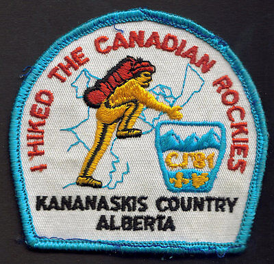 Boy Scouts Canada 1981 Canadian Jamboree Embroidered Patch Alberta Rockies