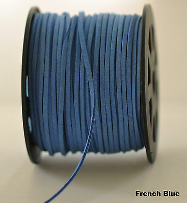 Faux suede cord 18 colours 5 metres for $3.00