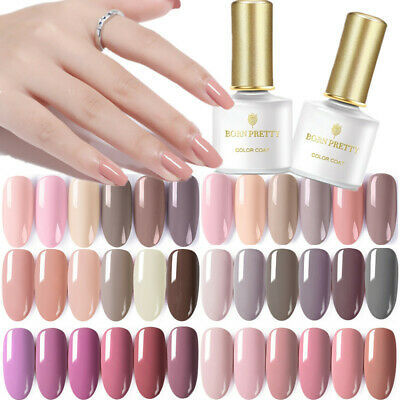 5/10ml Born Pretty Nude Series Nail Art Soak off UV Gel Polish Varnish 12 Colors