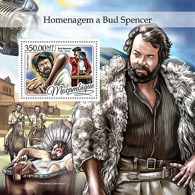 MOZAMBIQUE 2016 ** Tribute to Bud Spencer Cinema Kino S/S #403b