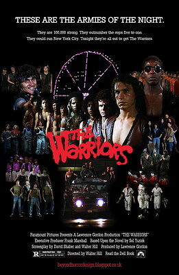 "7582 Hot Movie TV Shows - The Warriors 1979 7 14""x21"" Poster"