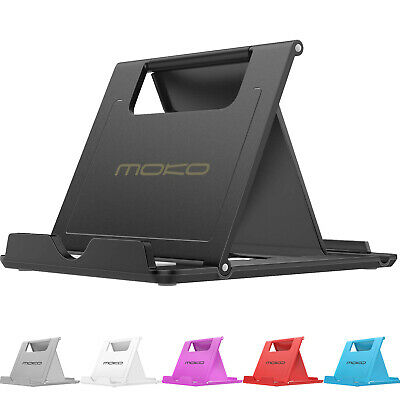 MoKo Cell Phone Stand, Tablet Stand, Universal Foldable Multi-angle Desktop Hold